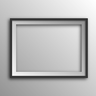 Square picture frame with shadow.