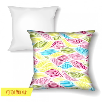 Square pillow.  template  on white background