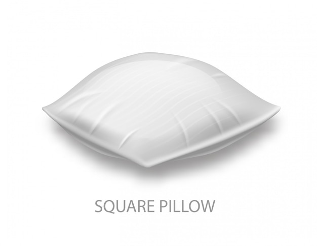 Square pillow on whiteer.
