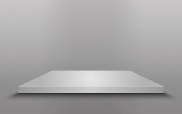 Square podium, pedestal or platform isolated