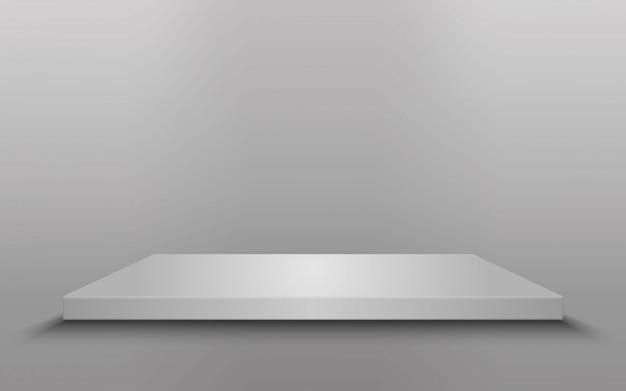Square podium, pedestal or platform isolated