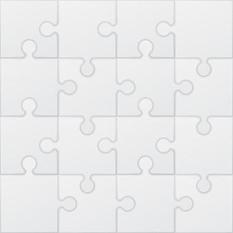 Square puzzle vector illustration
