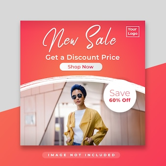 Square sale banner for instagram