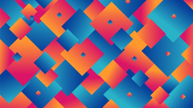 Square shape abstract background