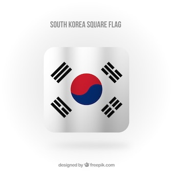 Square south korean flag background
