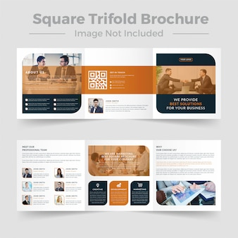 Square trifold business brochure