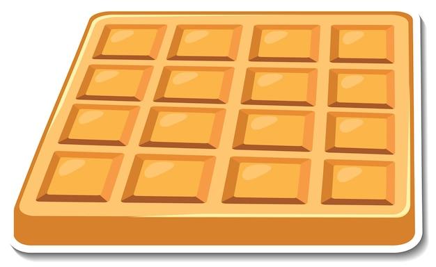 Square waffle sticker on white background