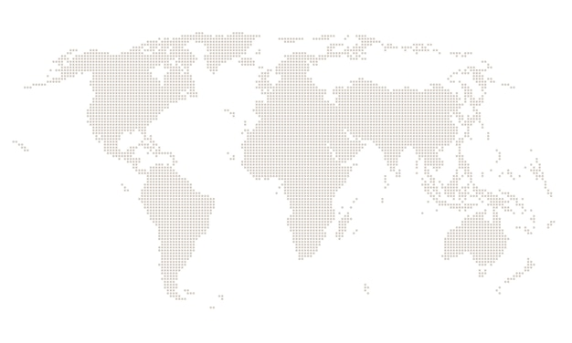 Square world map
