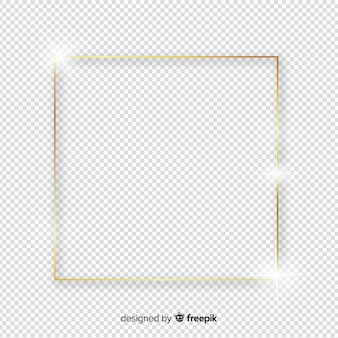 Squared realistic golden frame