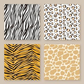 Squared seamless animal print patterns
