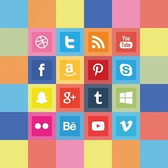 Squared social media icon pack