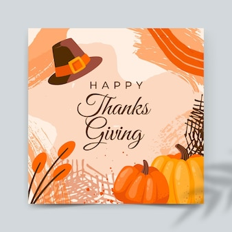 Squared thanksgiving card template