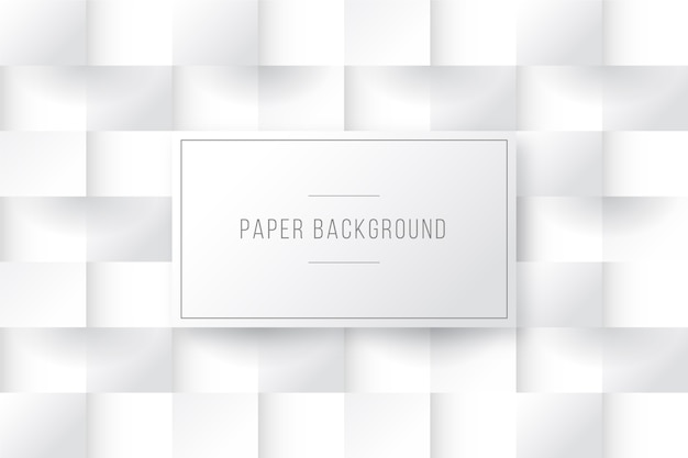 Squares background in 3d paper style