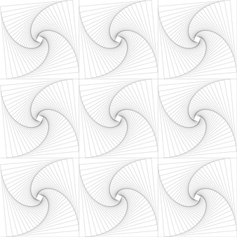 Squares rotated to pattern