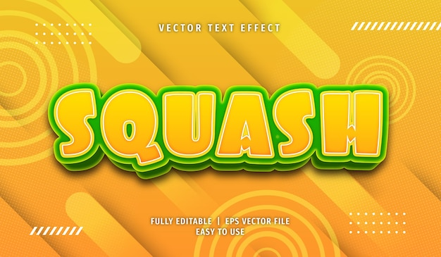 Squash text effect, editable text style