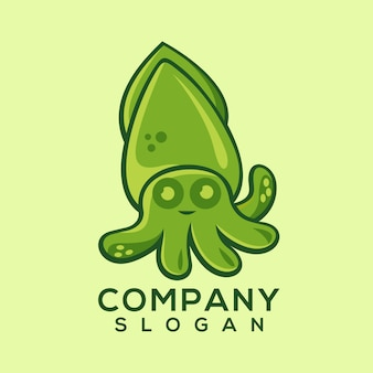 Squid logo vector