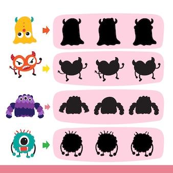 Squid matching game vector design