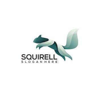 Красочный логотип squirell