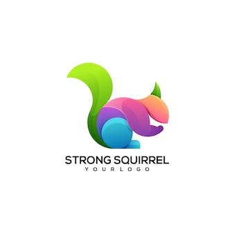 Белка красочный логотип иллюстрации