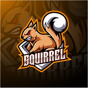 Squirrel esport mascot logo