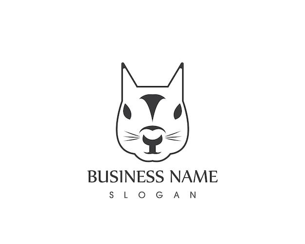 Шаблон дизайна логотипа с белкой