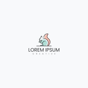 Белка логотип дизайн вдохновения