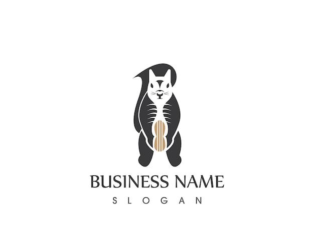 Шаблон дизайна логотипа squirrel