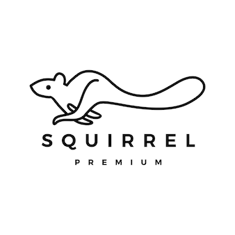 Squirrel logo icon illustration