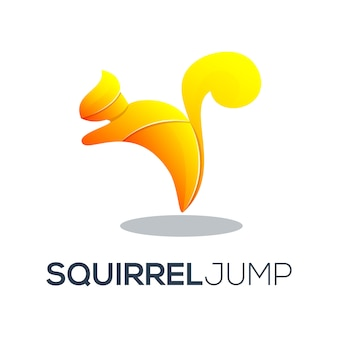 Squirrel logo with awesome gradient