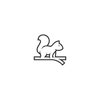 Squirrel monogram logo