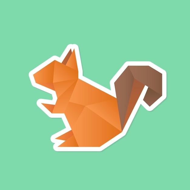 Squirrel paper craft animal sticker