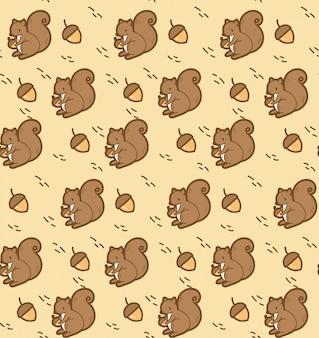 Squirrel seamless background