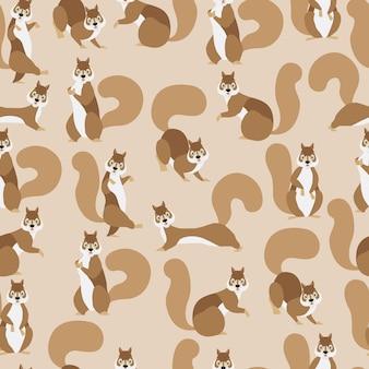 Squirrel seamless pattern