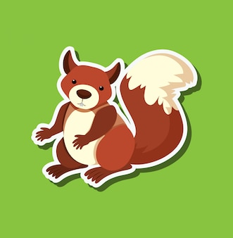 A squirrel sticker character