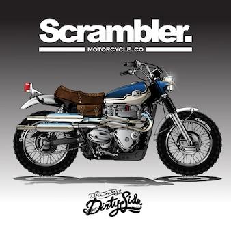 Винтаж srambler motorcycle poster