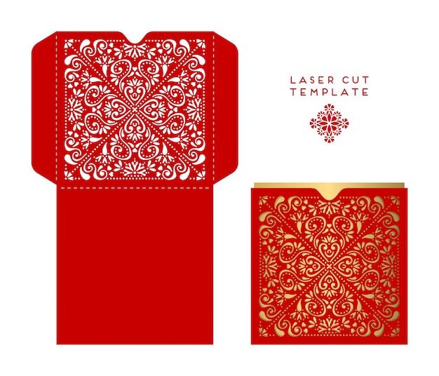 Красная коробка, этническая sred коробка с ornamenttyle