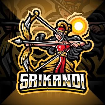 Srikandi esport 마스코트 로고 디자인