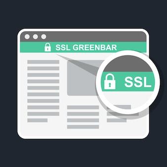 Ssl green bar in browser