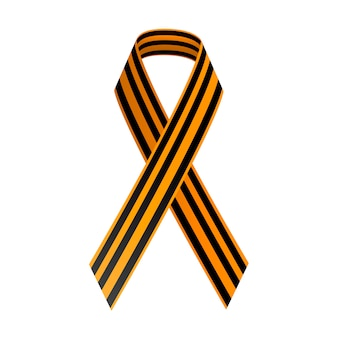 St george black and gold ribbon