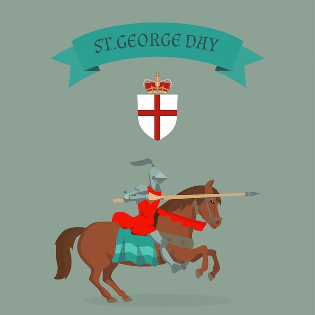 St. george's day card.
