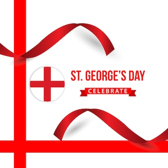 St george's day celebrate vector template design
