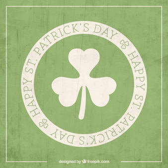 St patrick card in stamp style Free Vector