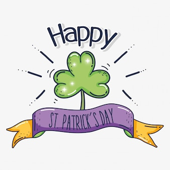 St patrick celebration event with clover