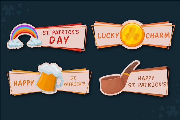 St patrick day badge collection