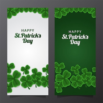 St. patrick day banner template