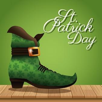День святого патрика загрузочный деревянный зеленый фон