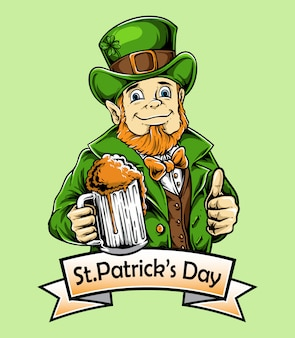 St patrick day character