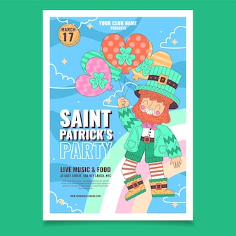 聖パトリックの日チラシテンプレート