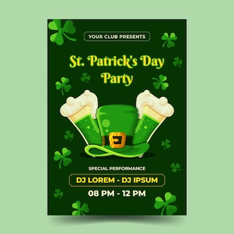 St. patrick day flyer template