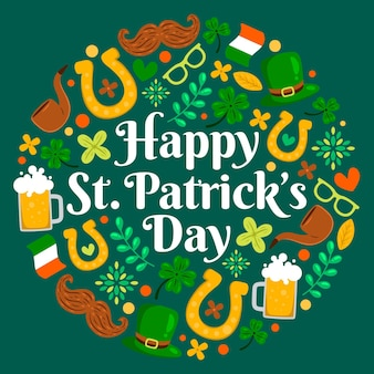 St. patrick day illustration Free Vector